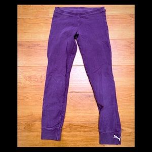 Puma Purple Joggers Girls Small